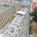 Plaza Montt Varas frente al Palacio de Tribunales centro de Santiago