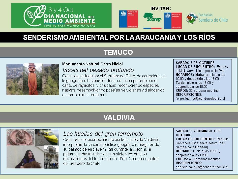 Dia Nacional del Medio Ambiente Sendero de Chile Araucania Los Rios