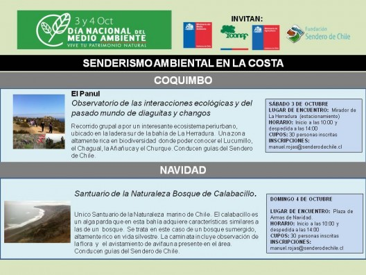 Dia Nacional del Medio Ambiente Sendero de Chile Costa