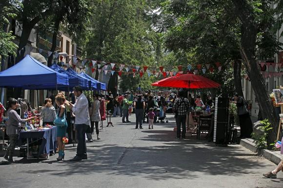 Fiesta de la Primavera en Barrio Yungay. © Municipalidad de Santiago, vía Flickr.