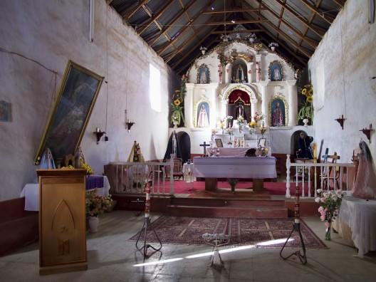 Interior de la Iglesia San Martín de Tours en Valle de Codpa. © Dan Lundberg, vía Flickr.