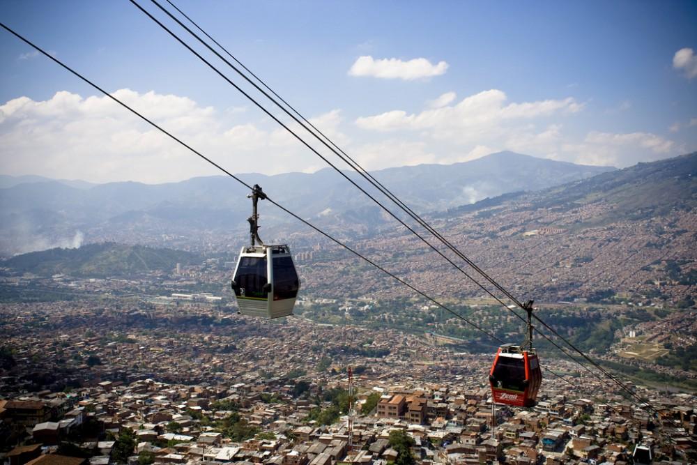 Metrocable en Medellín, Colombia. © mardruck, vía Flickr.
