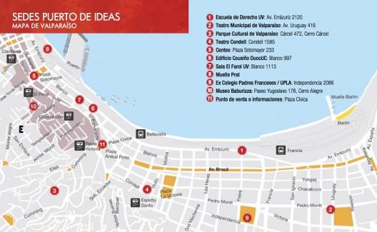 Sedes Puerto de Ideas Valparaiso noviembre 2015