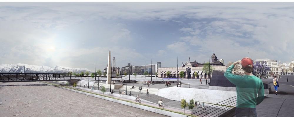Propuesta Shift Arquitectos. Imagen vía Municipalidad de Santiago