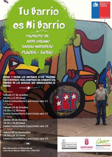 Talleres Quiero Mi Barrio en Barrio Matadero Placer Biobio