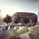 Propuesta para la Plaza Tåsinge en San Kjeld, Copenhague. © Tredje Natur . Vía Archdaily.