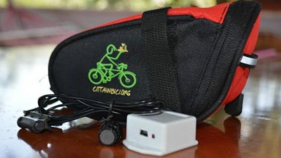 Los sensores utilizados para registrar la cantidad de kilómetros recorridos. © Liceo Antonio Meucci
