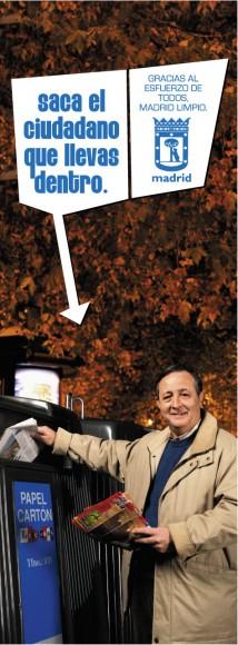 """Campaña """"Saca el ciudadano que llevas dentro"""". © Ayuntamiento de Madrid"""