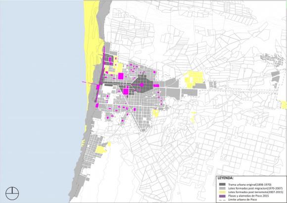 Cambios morfológicos en el espacio publico a causa del terremoto . Image Cortesía de Cerasil Rangel Mungi