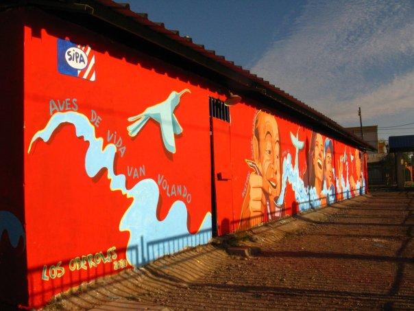 Mural junto a SIPA. Centro Cultural Poeta Neruda, La Granja.
