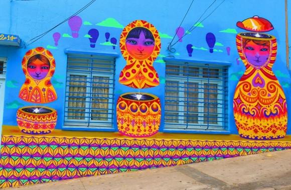 """Mural """"Cuerpo Mente y Alma"""" en Subida Cumming, Valparaíso. Cortesia Juanita Perez."""