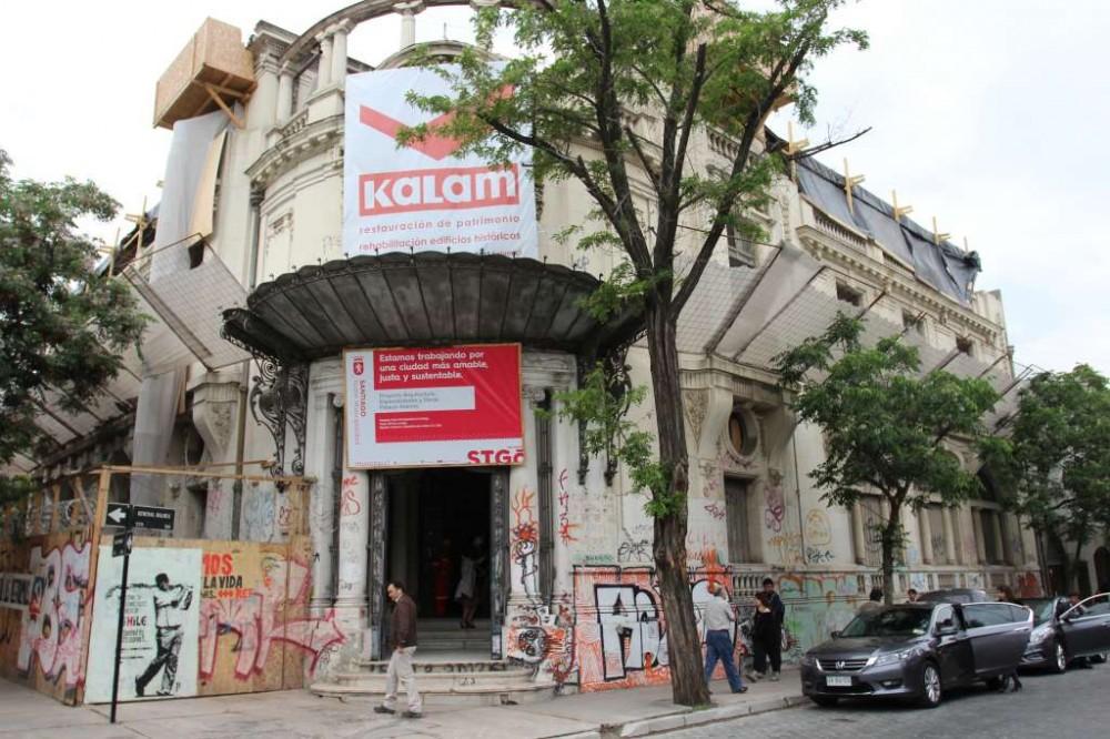 Palacio Álamos en Barrio Yungay. © Ministerio de Bienes Nacionales