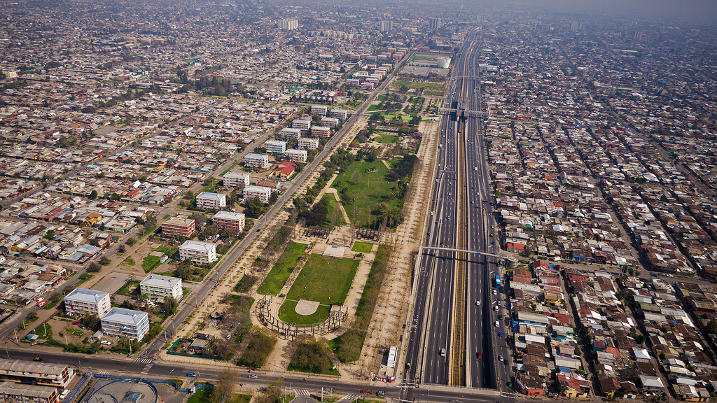 Parque La Bandera desde el aire. © Gobierno de Chile, vía Flickr.