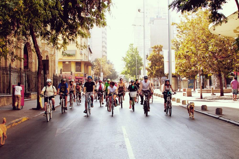 Primer Bicimambo del Foro Mundial de la Bicicleta Chile 2016 1