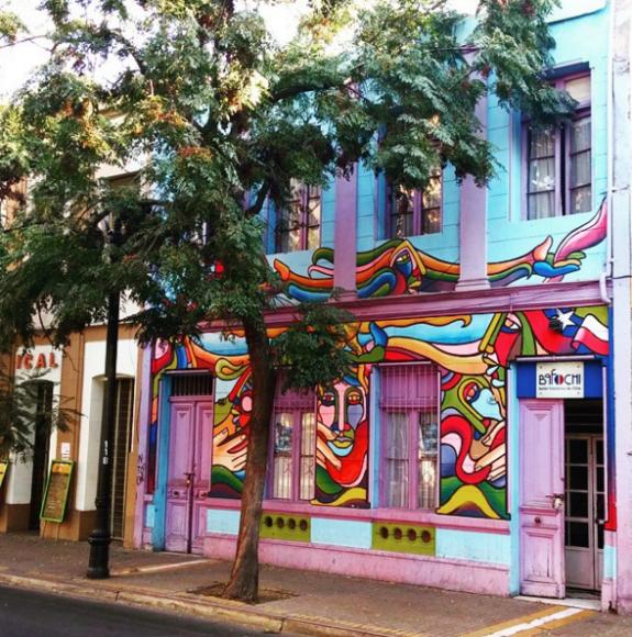 Sede Nacional del Balle Folclórico Nacional (Bafochi) en Av. Cumming. Cortesía Barrio Brasil en Instagram