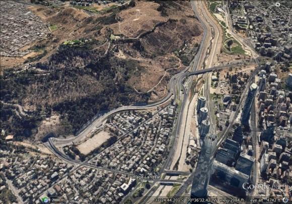 Oriente del Cerro San Cristóbal. Fuente: maps.google.es/