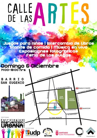 afiche calle de las artes barrio san eugenio 6 diciembre
