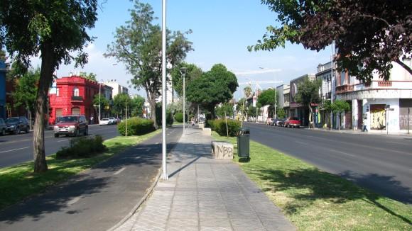 Bandejón central de la Avenida Matta. © Plataforma Urbana