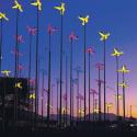 aviones luminosos en aeropuerto de santiago por Lina Sinisterra