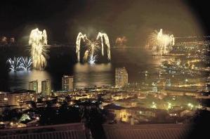 fuegos artificales valparaiso