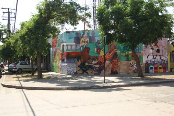 """""""Deporte y Sociedad"""". Intersección de calle Tocornal con Biobío."""