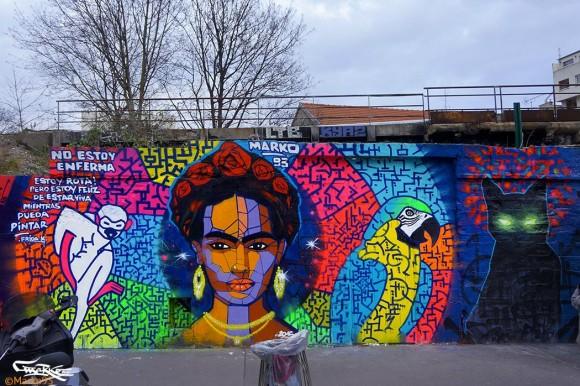 """""""Frida Kahlo"""" por Marko 93. (Imagen vía Facebook)"""