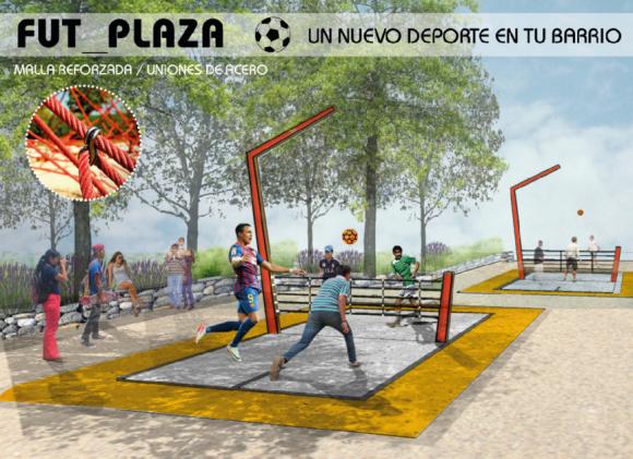 """""""Fut_Plaza"""", mención honrosa del concurso """"Mi Plaza es Mi Jardín""""."""