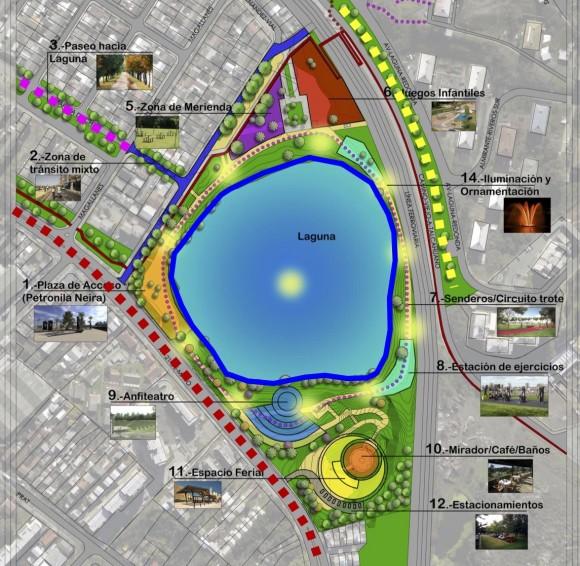 Plan Maestro de Remodelación del Parque Laguna Redonda de Concepción. © Municipalidad de Concepción