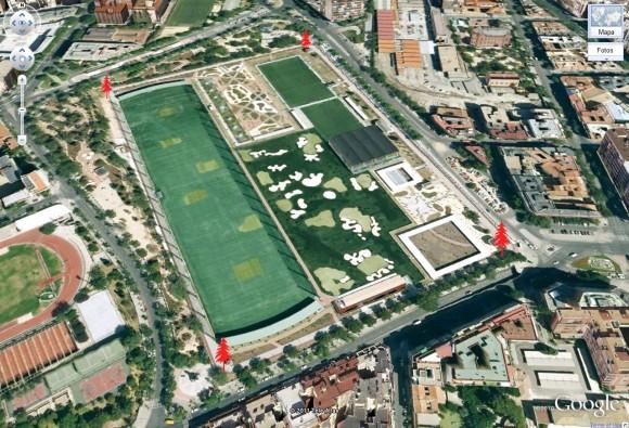 Campo de golf en el Tercer Depósito del Canal Isabel II en Chamberí, Madrid. Fuente: Visitando Madrid
