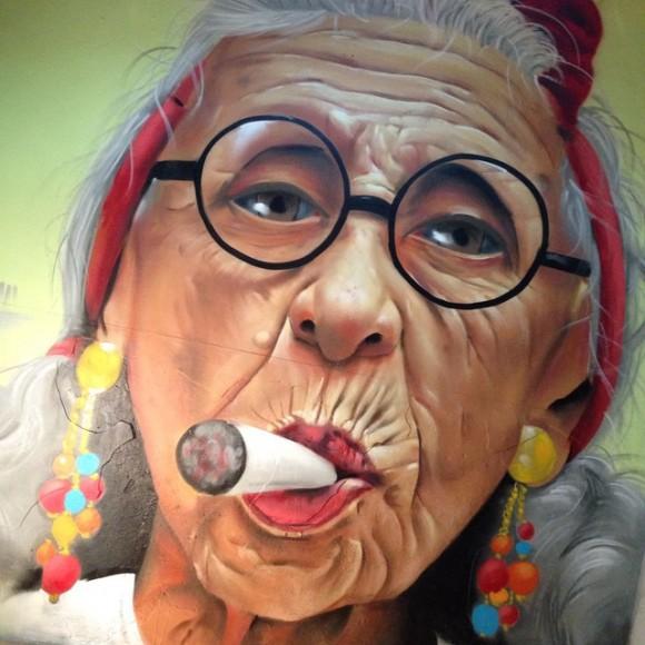Mural de ManuManu en Barcelona. (Imagen vía Facebook).