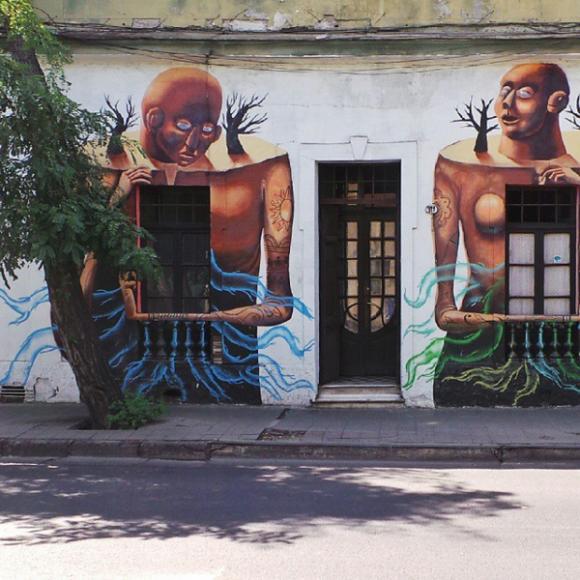Murales en Barrio Yungay. Cortesía La Ciudad al Instante