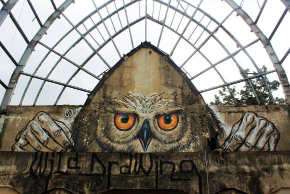 """Owlself"" por WD. (Imagen vía WD street art en Facebook)"