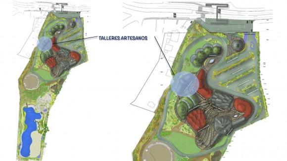 Proyecto Parque Pueblito Las Vizcachas. Cortesía Municipalidad de Puente Alto