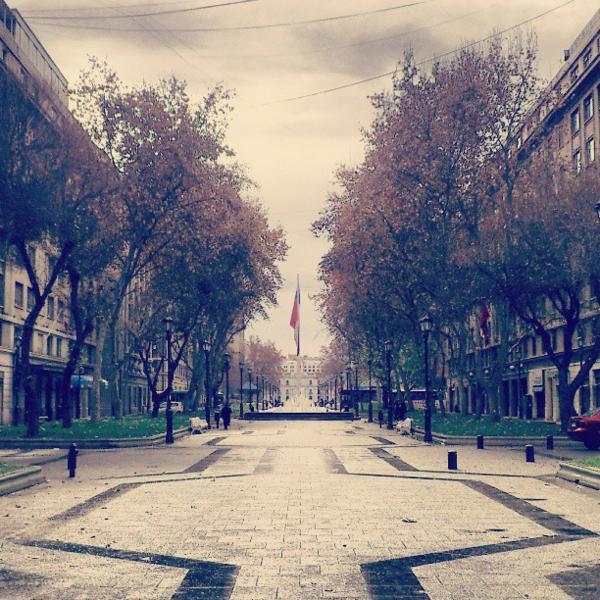 Paseo Bulnes, Santiago centro. Cortesía La Ciudad al Instante