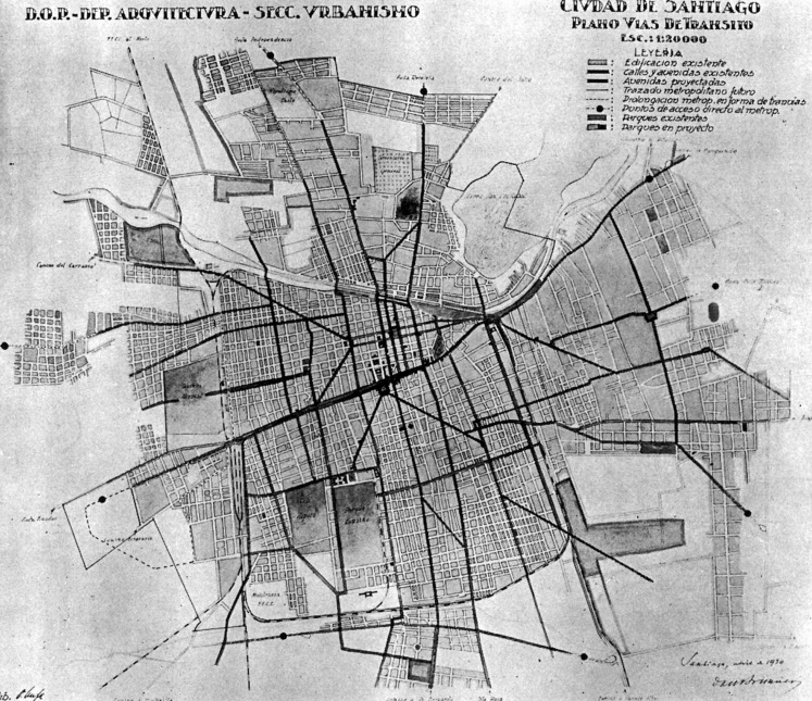Plan de Brunner para Santiago ©  Universidad de Chile