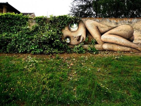 Por Vinnie Graffiti para el Festival Street Art Magnac. (Imagen vía Facebook)