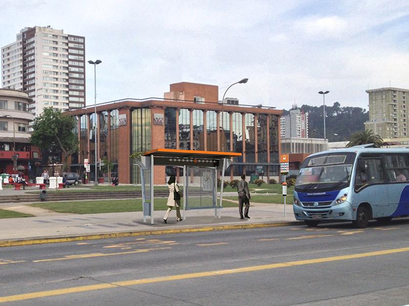Propuesta Paradero Opción 1 de Baja Capacidad. Fuente imagen: Yo Elijo Mi Paradero.