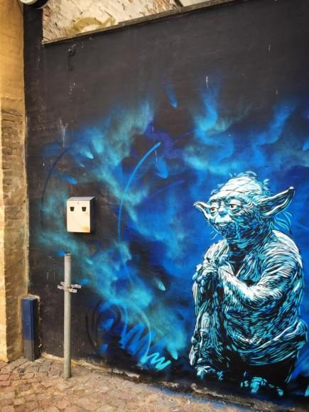 """""""Yoda"""" por C215. (Imagen vía Facebook)."""