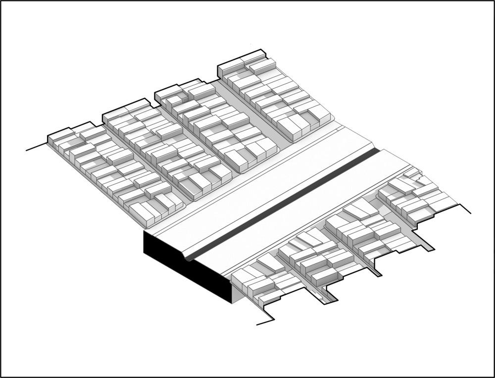 Re-desarrollo actual. Image Cortesía de MOBO Architects + Ecopolis + Concreta
