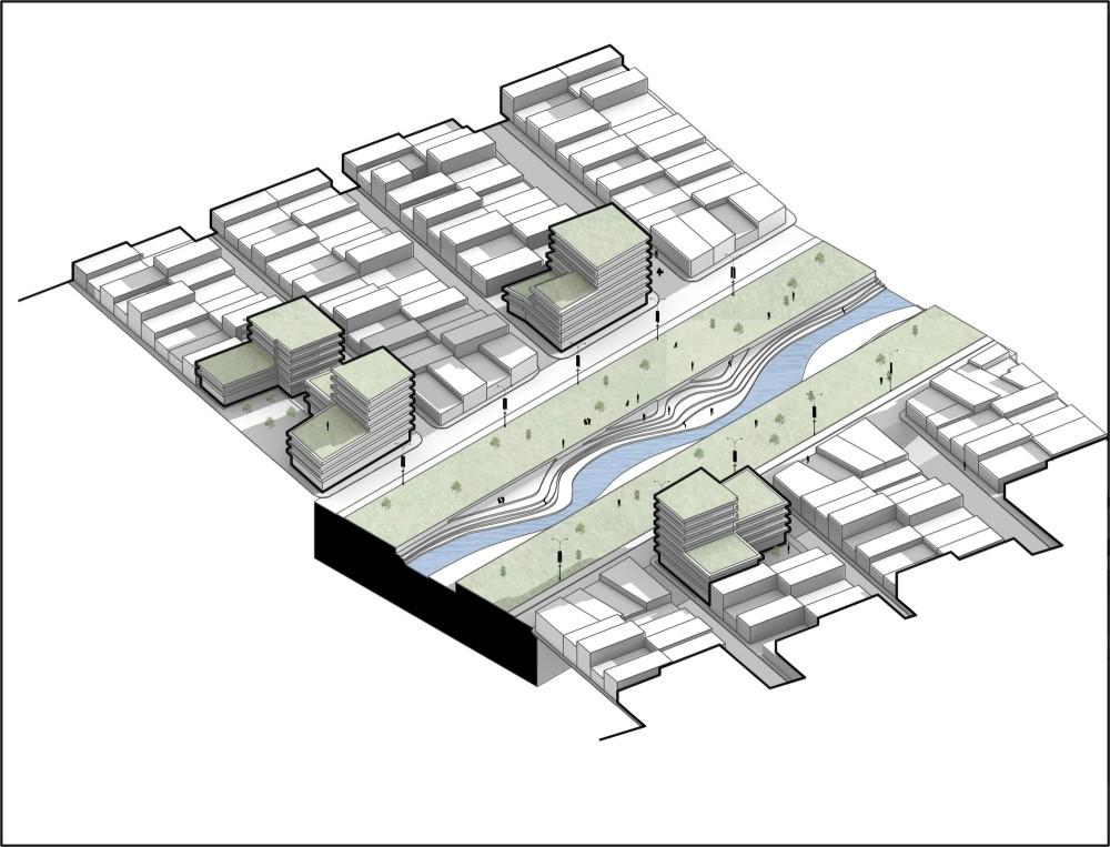 Re-desarrollo en 2023. Image Cortesía de MOBO Architects + Ecopolis + Concreta