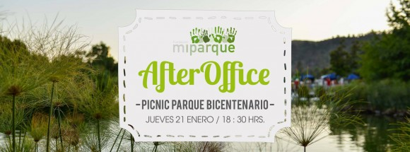 Afiche After Office Fundacion Mi Parque en Parque Bicentenario Vitacura 1