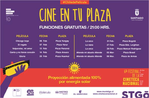 afiche cine en tu plaza 2016