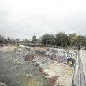 graffitis en el rio mapocho