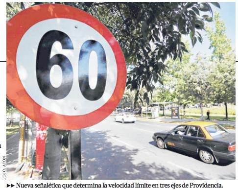 reduccion velocidad avenidas providencia