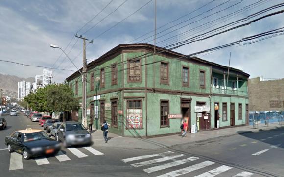 Casa Dauelsberg, Antofagasta. Foto vía Google Maps