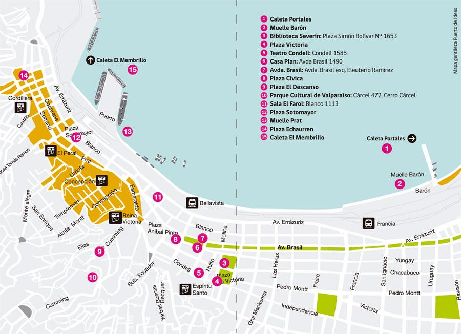 mapa festival de las artes valparaiso 2016