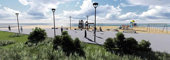 Proyecto de mejoramiento del Parque Croacia. © Municipalidad de Antofagasta