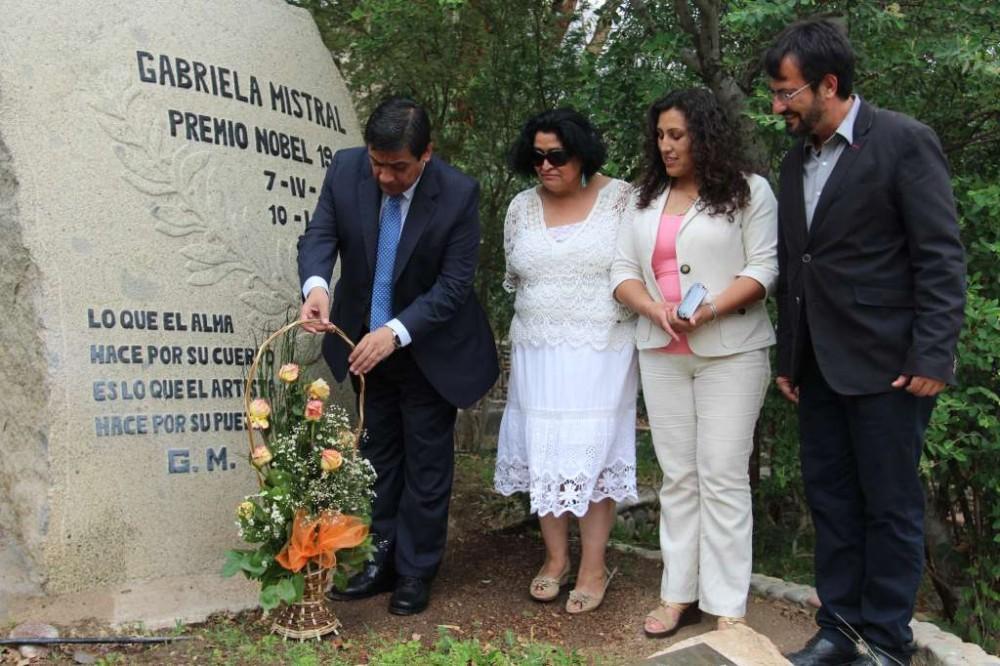 Sepulcro de Gabriela Mistral en Montegrande. © Ministerio de Bienes Nacionales