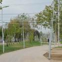 Parque Combarbalá en la comuna de La Granja, Santiago.