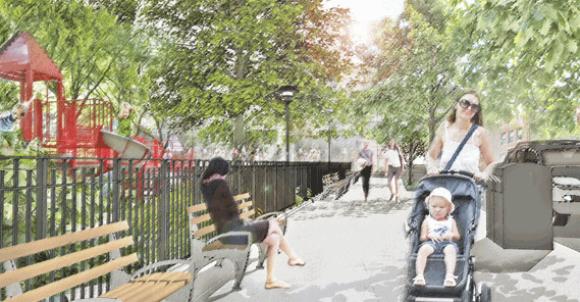"""Propuesta para los Bordes, """"Parques sin Fronteras"""". © Departamento de Parques de Nueva York"""